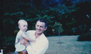 1.1 Bryan with one of his children 1965