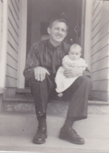 1.1 Bryan with one of his children 1967