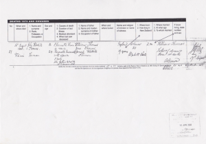 1.4 New Zealand Death Register Entry John Woodill THOMAS